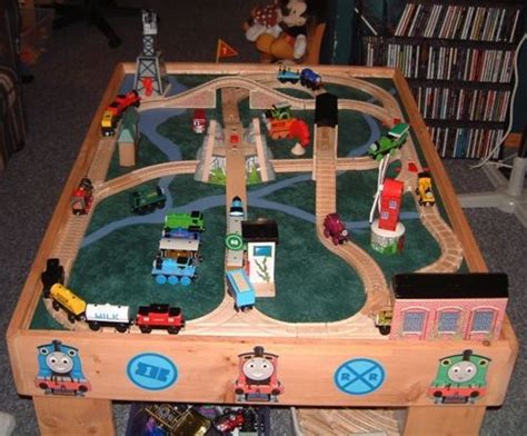 diy thomas train table layout plans