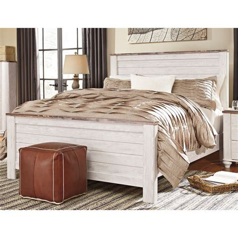 Beds From Bed Store by Classic Rustic Whitewashed King Bed Millhaven Rc