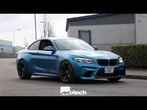 us spec bmw m2 in for some stance eibach springs and wheel spacers motech performance youtube