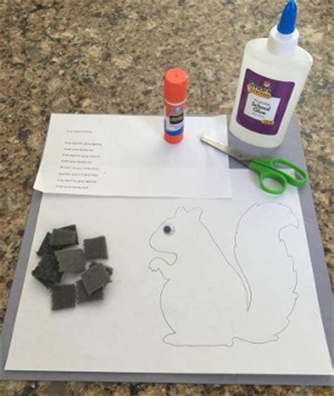 grey squirrel craft  kids network