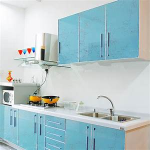 yazi gloss blue flower pvc waterproof wall sticker kitchen With kitchen colors with white cabinets with sticker text app