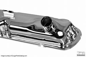 Valve Covers - Small Block - HIPO - Chrome ~ 1967 Mercury Cougar / 1964 - 1966 Ford Mustang ...