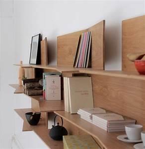 Bibliothèque Murale Bois : bibliotheque murale bois maison design ~ Premium-room.com Idées de Décoration
