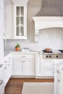 backsplash in white kitchen white and gray kitchen with light gray mini subway tiles