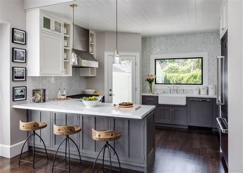 transitional kitchen  industrial country flair hgtv