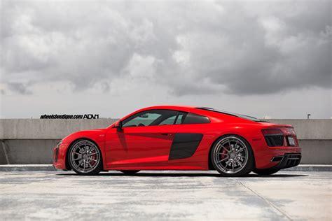 audi r8 modified red audi r8 v10 adv10 track spec cs series wheels adv 1