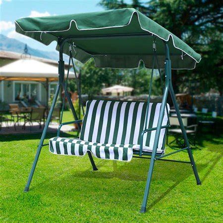 2 Seater Hammock Swing by 2 Seater Green Outdoor Patio Garden Swing Cushioned Canopy
