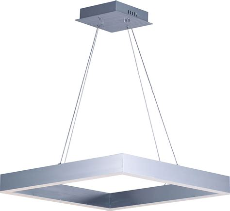 led drop ceiling lights et2 e24296 al metallika modern brushed aluminum led 24 5