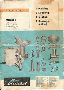 Electrolux Assistent Dlx Mixer Model N4 Manual