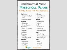 Montessori at Home Preschool Plan Monthly Themes Mama's