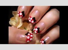 Uñas decoradas de Minnie Mouse YouTube