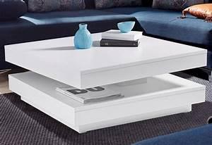 Weißer Couchtisch Hochglanz : raum id couchtisch mit drehbarer platte kaufen otto ~ Orissabook.com Haus und Dekorationen