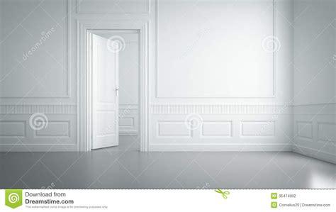 empty white room stock photo image   concept