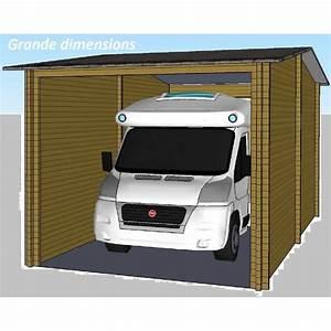 Abri Camping Car Bois : garage en bois sapin de 70mm camping car ou bateau 32m2 ~ Dailycaller-alerts.com Idées de Décoration