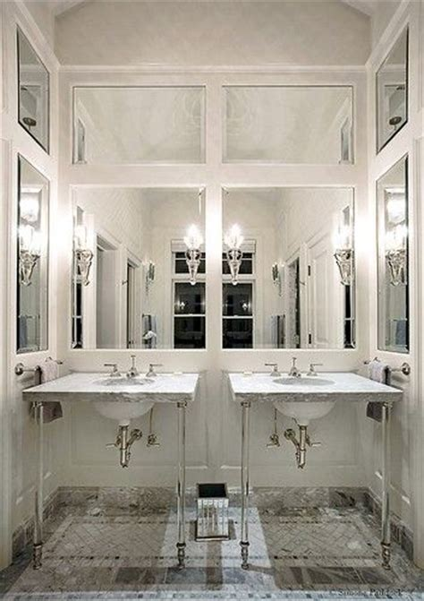 Mirrored Wall Bathroom by Wall Panels For The Powder Room And Bath Classical