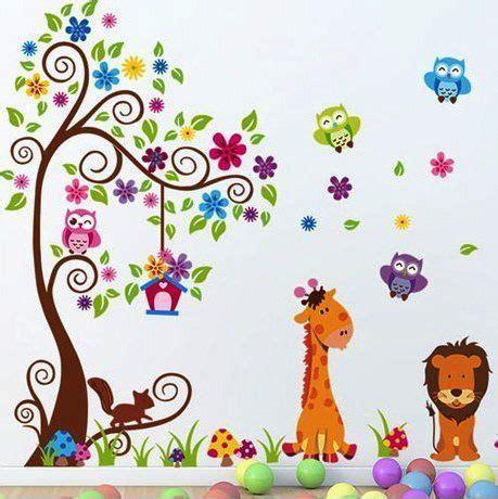 Xl Wandtattoo Kinderzimmer by Xl Wandtattoo Wandsticker Eule Baum Giraffe L 246 We