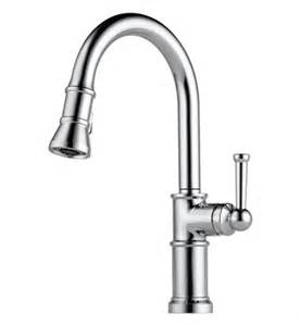 brizo 63025lf pn artesso single handle pull down kitchen