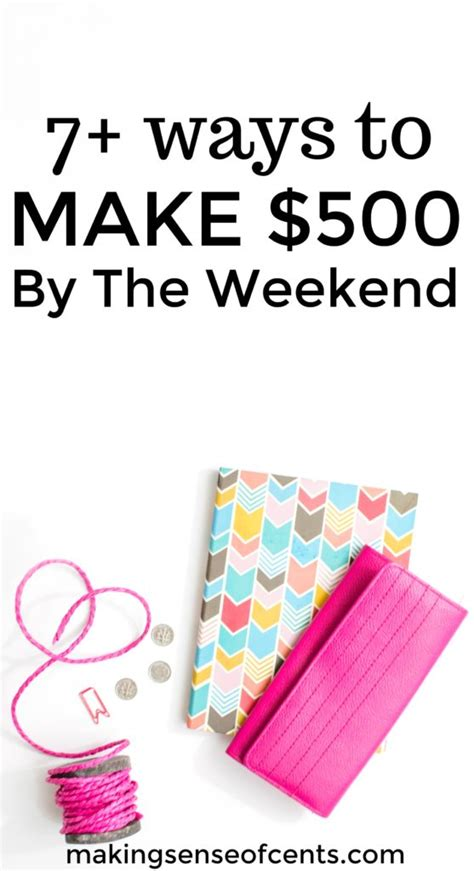 How To Make Money This Weekend  $500+ It Is Possible