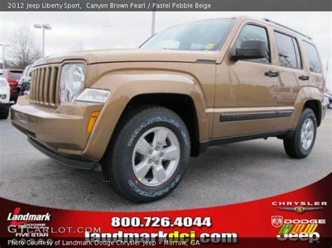 brown jeep liberty canyon brown pearl 2012 jeep liberty sport pastel