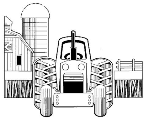disegno trattore della fattoria da coloraredisegno