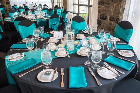 black teal wedding decor ottawa wedding planners