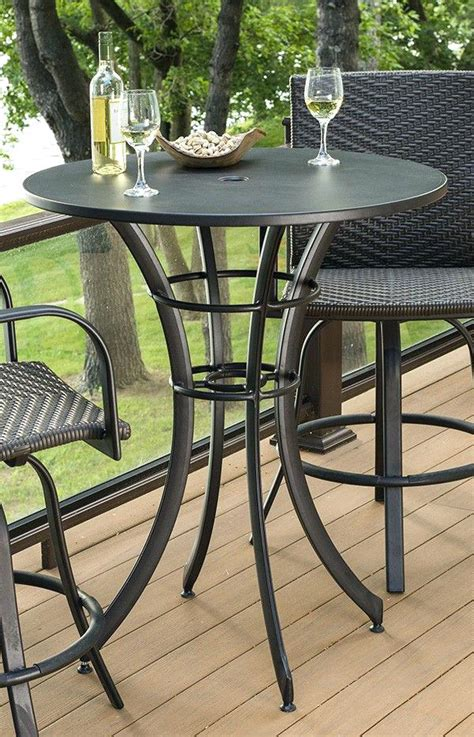 tall patio table set high top patio bar set patio outdoor high top table and