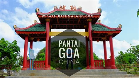 pantai goa china wisata batu malang  youtube