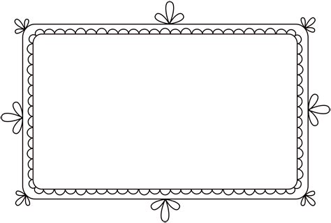 photo frames com free free clip brushes digital frames with scalloped