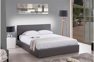 140x190 Lit Coffre : lit coffre 140x190 gris mona design sur sofactory ~ Teatrodelosmanantiales.com Idées de Décoration