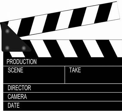 Clapperboard Clip Clipart Film Action Clapper Board
