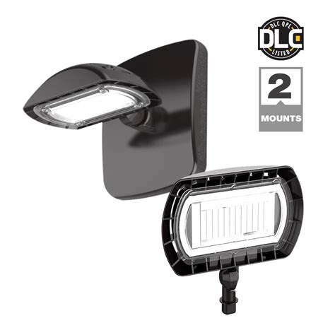 probrite dark bronze outdoor integrated led flood light with wall mount kit fsn 4k bz