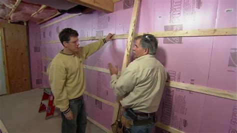 Framing Concrete Basement Walls by How To Frame Out Basement Walls This Old House Youtube
