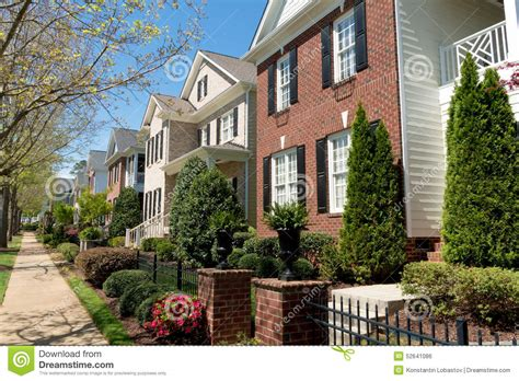 Residential Neighborhood Street Stock Photo  Image 52641086