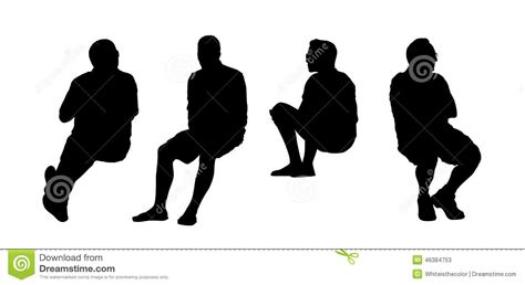 les gens ont pos 233 les silhouettes ext 233 rieures ont plac 233 12 illustration stock image 46384753