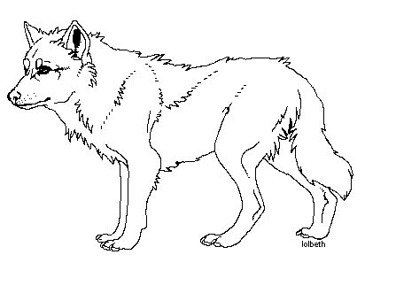 wolf template wolf template by lolbeth on deviantart