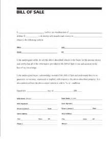 Sle Of A Bill Of Sale For An Automobile by Car Bill Of Sale Fill Printable Fillable Blank