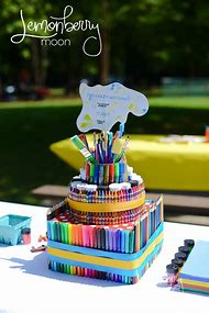 Art Themed Birthday Party Cake