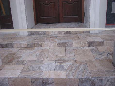 travertine tile on concrete patio in miami ceramic tile