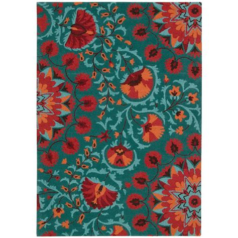 And Teal Rug by Nourison Suzani Teal 5 Ft 3 In X 7 Ft 5 In Area Rug