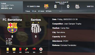 Barcelona 8 X 0 Santos 02\08\2013 - YouTube