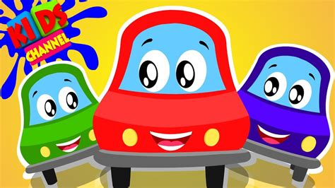 red car mixing colors rhymes fo kids youtube