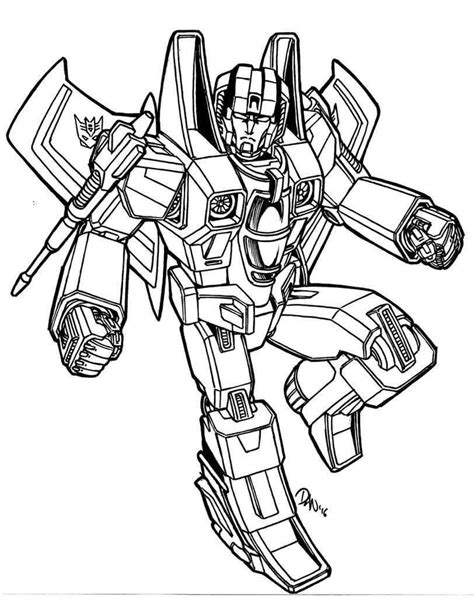 starscream decepticon coloring page coloring pages
