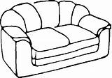 Coloring Sofa Pages Colouring Couch Furniture Household Magic Template sketch template