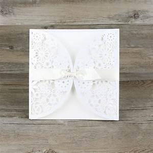 30pcs lot lace ribbon bow knot wedding invitation card With wedding invitation cards blank inside