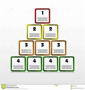 Progress Square Pyramid Stock Vector  Illustration Of