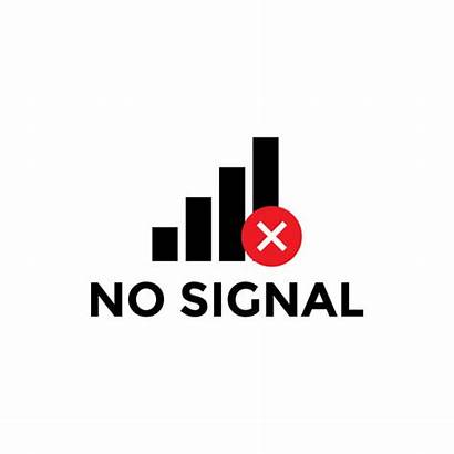 Signal Icon Vector Isolated Template Copyright Background