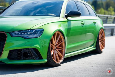 apple green audi rs  butterscotch wheels