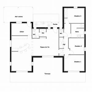 plan de maison contemporaine en u np18 jornalagora With plan maison plain pied 120m2