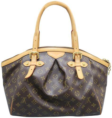 louis vuitton tivoli gm monogram brown canvas shoulder bag tradesy