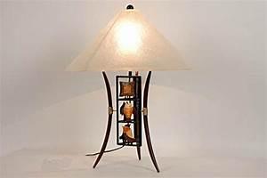 Lampe Fer Forg Exotique 3488